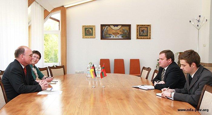 О встрече с Чрезвычайным и Полномочным Послом ФРГ  в Республике Молдова