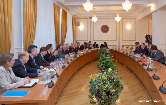 Head of PMR's MFA Held a Meeting with the Delegation of Representatives of Guarantor States, Intermediaries and Observers in Permanent Consultations on Political Issues in the Framework of the Pridnestrovien Settlement Negotiation Process