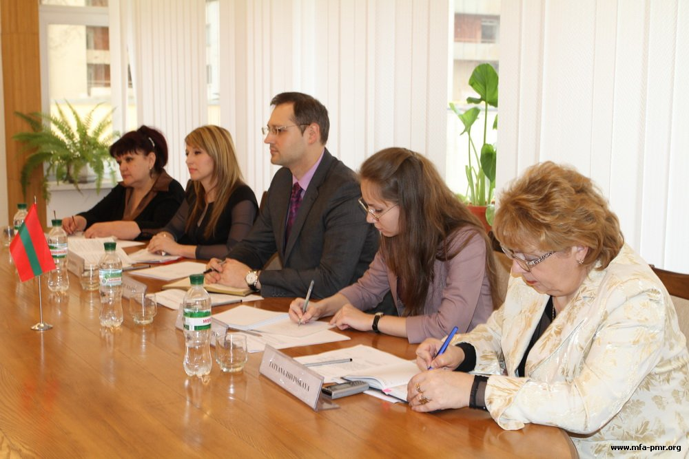Meeting of Deputy Foreign Minister of the PMR Vitaly Ignatiev with the Delegation of UNICEF in Moldova