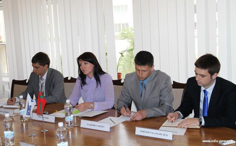 О встрече Главы МИД ПМР с делегацией Миссии ОБСЕ в Молдове