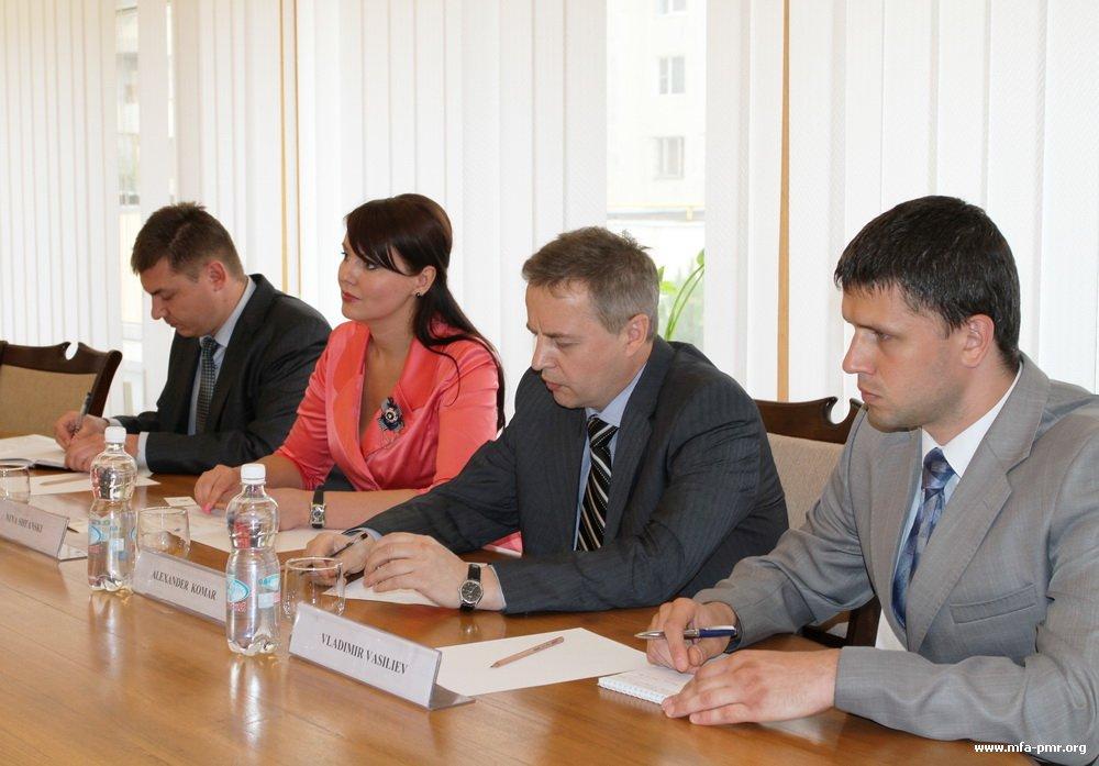 Meeting of Nina Shtanski and British Ambassador Philip David Batson