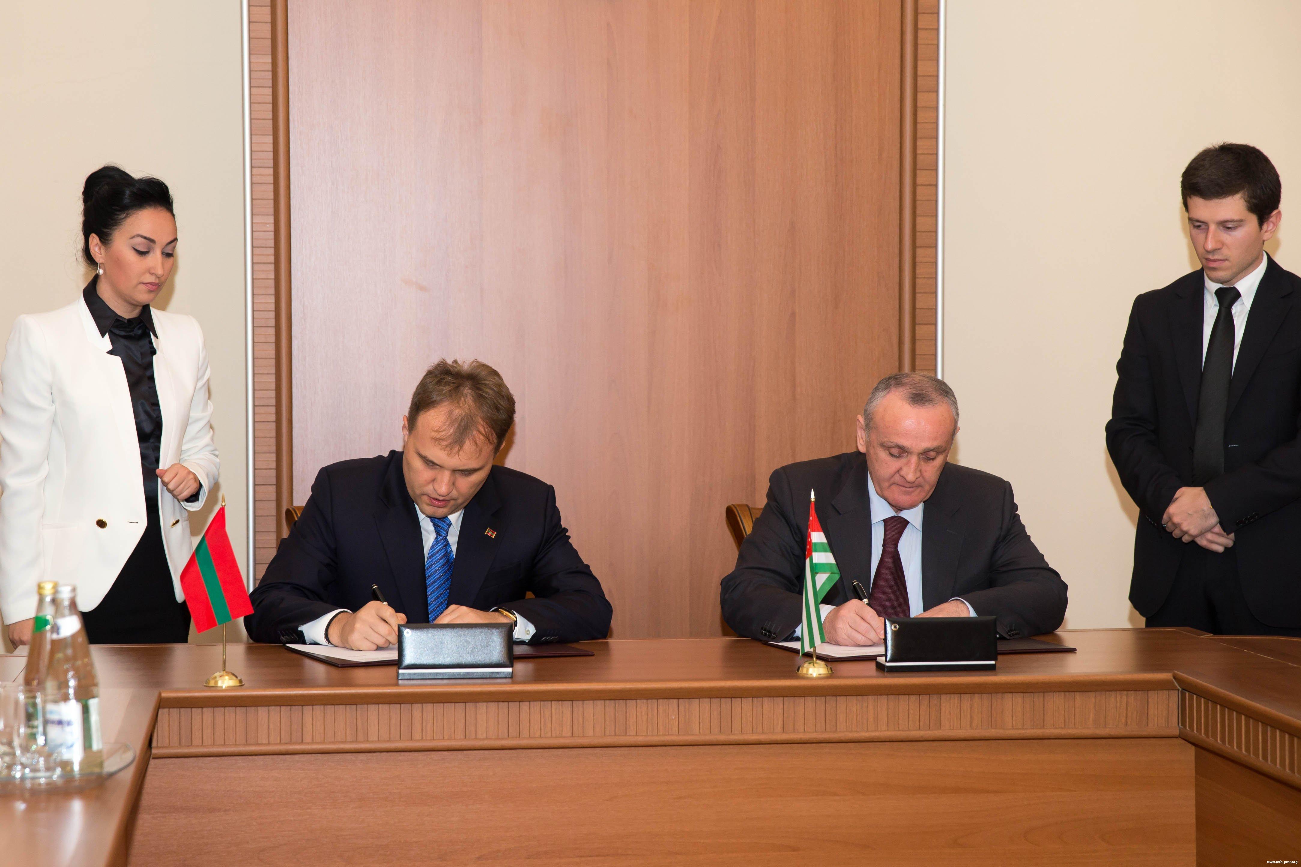 President of Pridnestrovie Met with President of Abkhazia