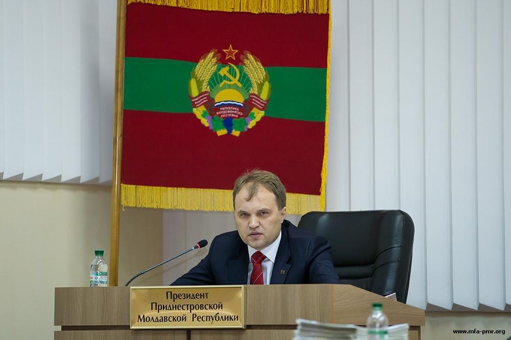 Президент Приднестровья: «Мы должны реализовать волю приднестровского народа, и данная законодательная инициатива способствует этому»