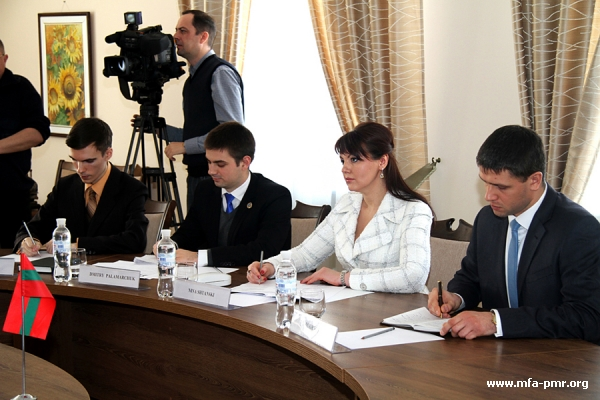 On the Meeting of the Head of the Pridnestrovian Foreign Ministry with the Delegation of the European Union