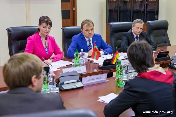 Президент Приднестровья принял делегацию ФРГ