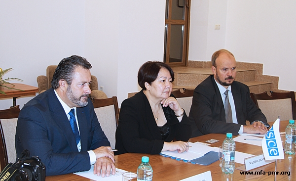 PMR's MFA hosted a meeting with OSCE Special Representative and Co-ordinator for Combating Trafficking in Human Beings